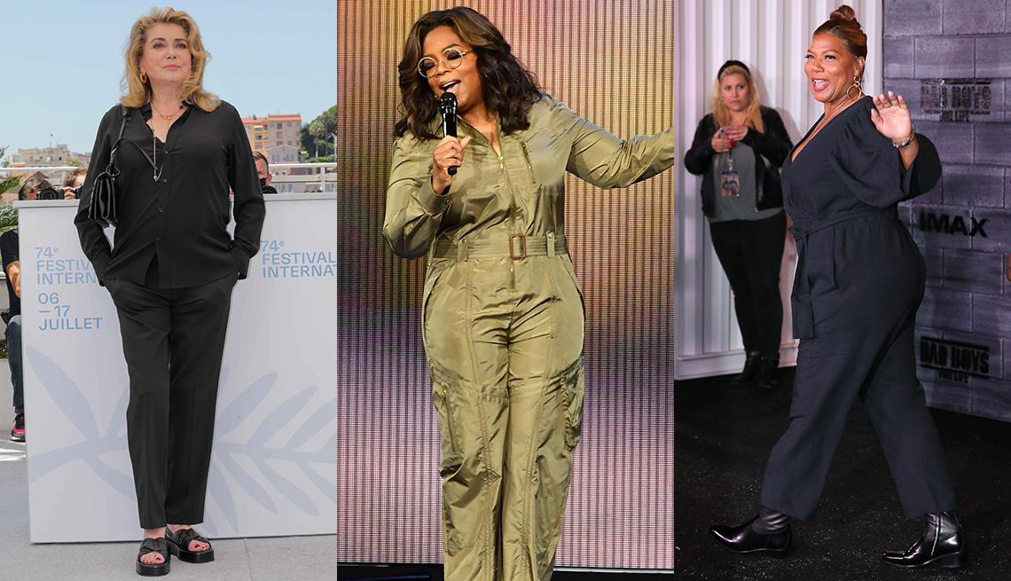 item 4 of Gallery image - (De izquierda a derecha) Catherine Deneuve, Oprah Winfrey y Queen Latifah.