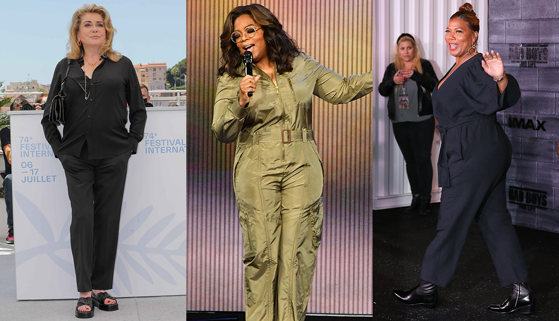 item 4 of Gallery image - Side by side images of Catherine Deneuve, Oprah Winfrey and Queen Latifah