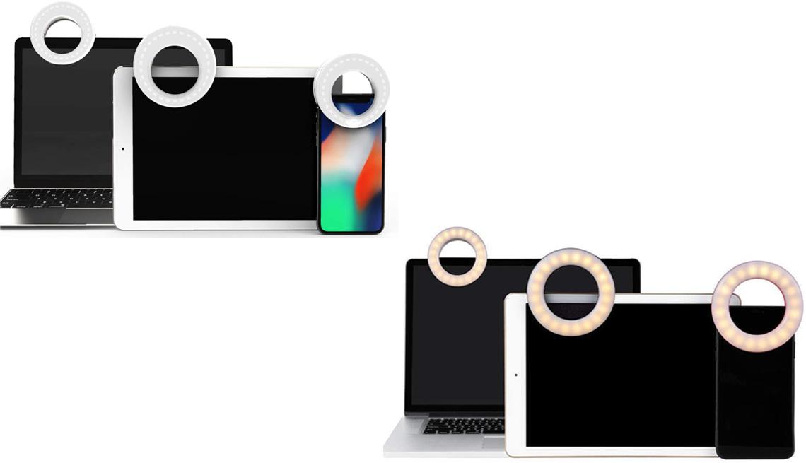 item 8 of Gallery image - Lámparas de anillo Selfie Light Ring de la marca Qiaya (arriba a la izquierda); Selfie Ring Light de la marca Whellan (abajo a la derecha).