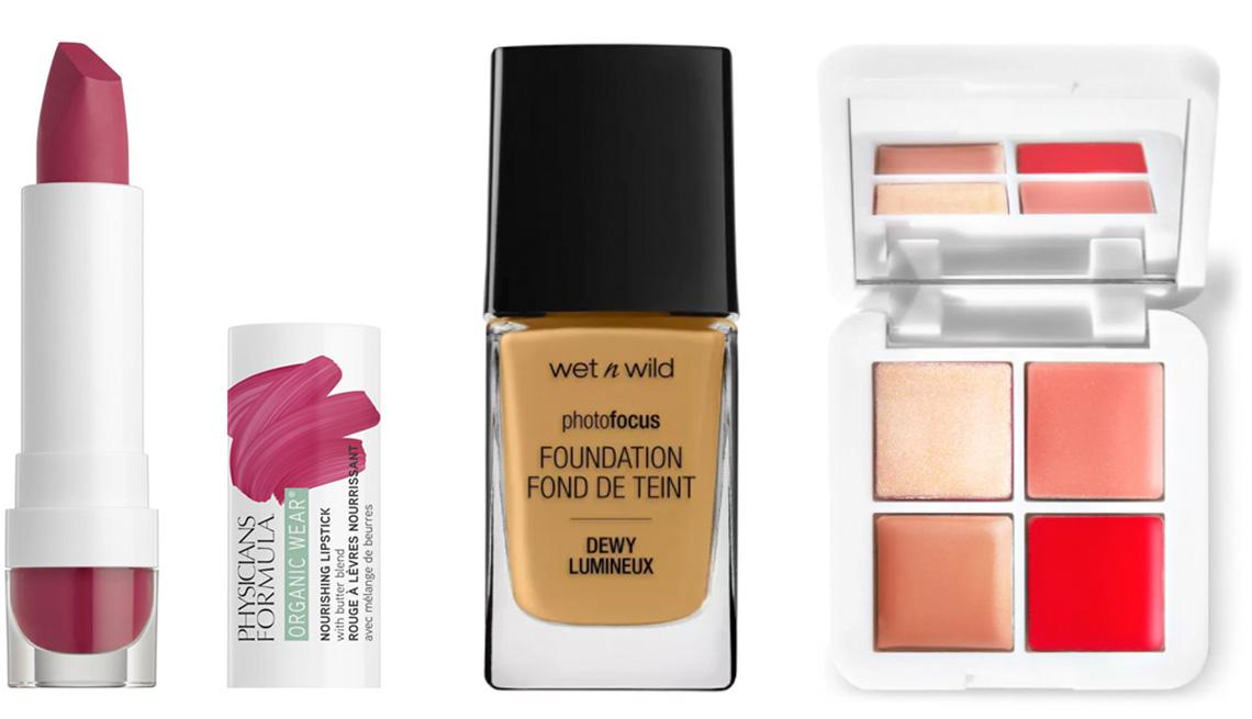 item 10 of Gallery image - Physicians Formula Organic Wear Nourishing Lipstick in Raspberry Crush; Wet n Wild Photo Focus Dewy Foundation in Caramel; RMS Beauty Lip2Cheek Glow Mini Quad