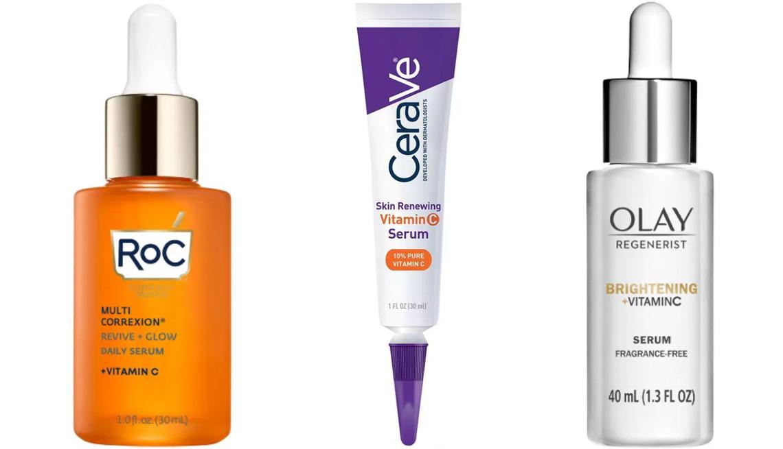 item 3 of Gallery image - RoC Multi Correxion Vitamin C Revive+ Glow Serum; CeraVe Skin Renewing Vitamin C Serum; Olay Regenerist Brightening Vitamin C Serum