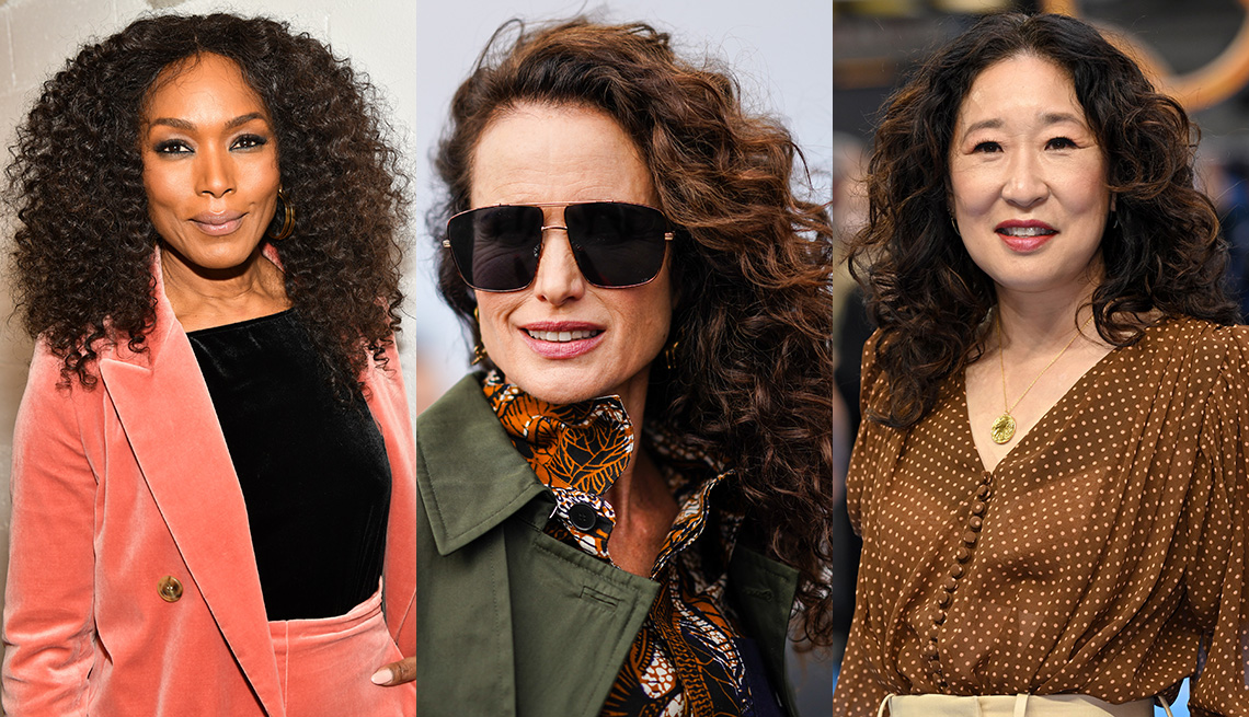 item 11 of Gallery image - Side by side images of Angela Bassett, Andie MacDowell and Sandra Oh wearing textured hairstyles