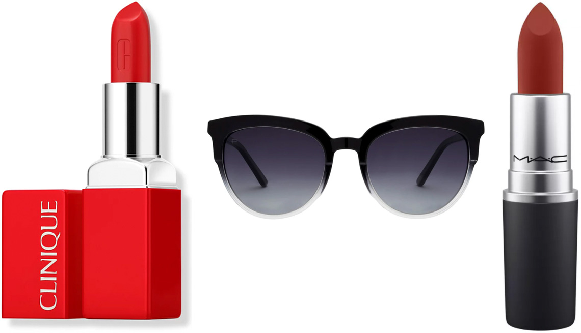 item 8 of Gallery image - Clinique Pop Reds in Red Hot; Prive Revaux The Influencer sunglasses in Caviar Black Gradient; MAC Powder Kiss Lipstick for Ulta Beauty in Dubonnet Buzz