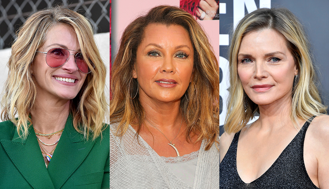 item 3 of Gallery image - Side by side images of Julia Roberts, Vanessa Williams and Michelle Pfeiffer showing the highlights in their hair