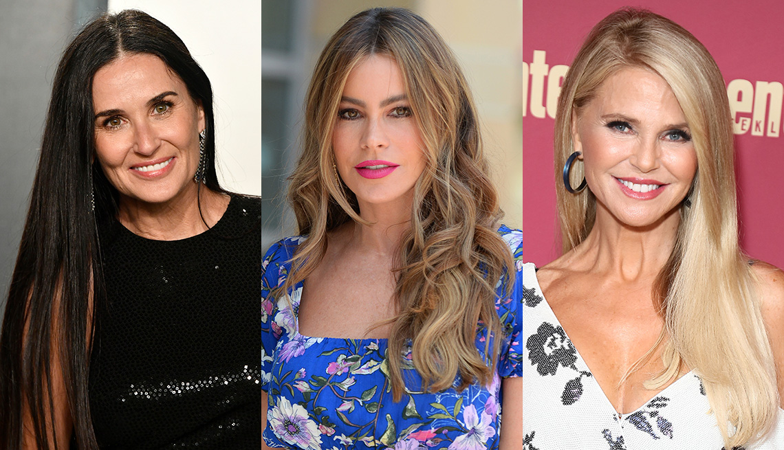 item 12 of Gallery image - Side by side images of Demi Moore, Sofia Vergara and Christie Brinkley