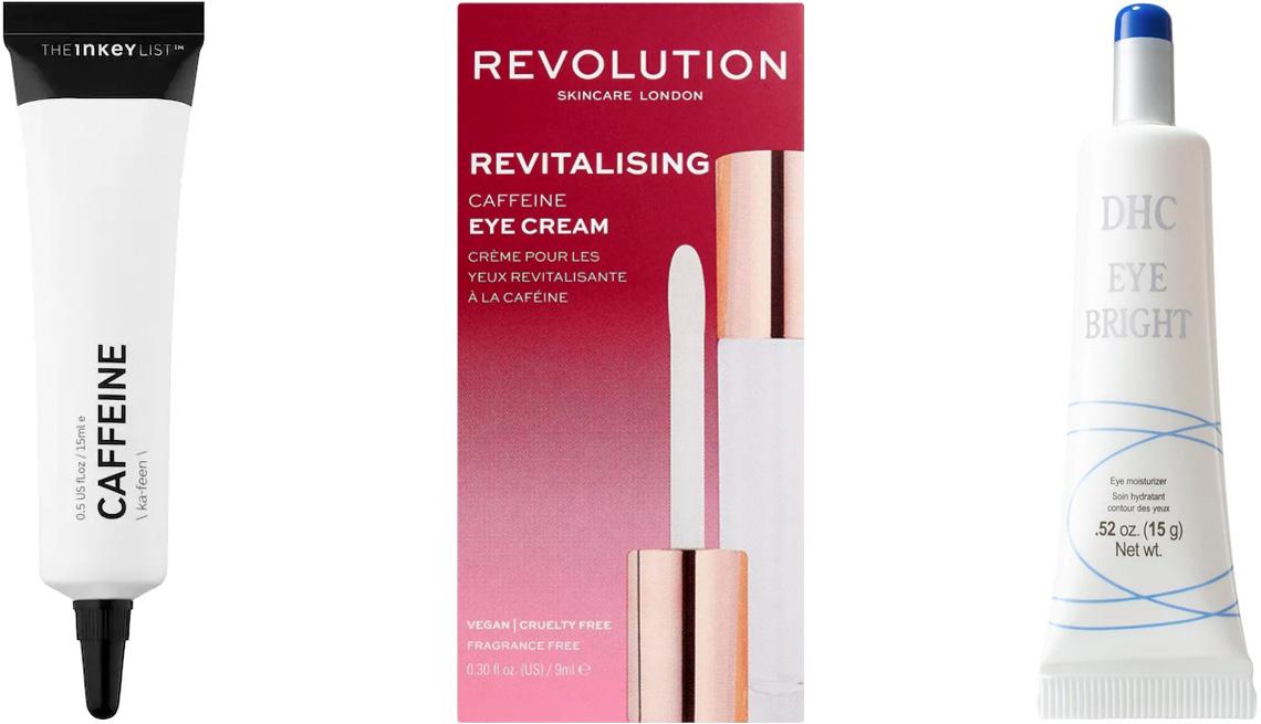 item 3 of Gallery image - The Inkey List Caffeine Eye Cream; Makeup Revolution Skincare Revitalizing Caffeine Eye Cream; DHC Eye Bright