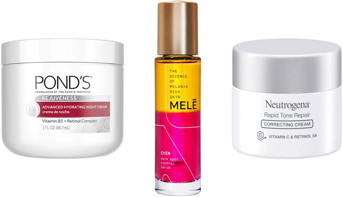 item 4 of Gallery image - Pond's Rejuveness Advanced Hydrating Night Cream; Mele Even Dark Spot Control Facial Serum for Melanin Rich Skin; Neutrogena Rapid Tone Repair Retinol + Vitamin C Correcting Cream