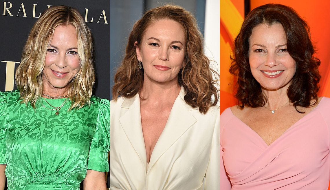 item 1 of Gallery image - Side by side images of actress Maria Bello, Diane Lane and Fran Drescher