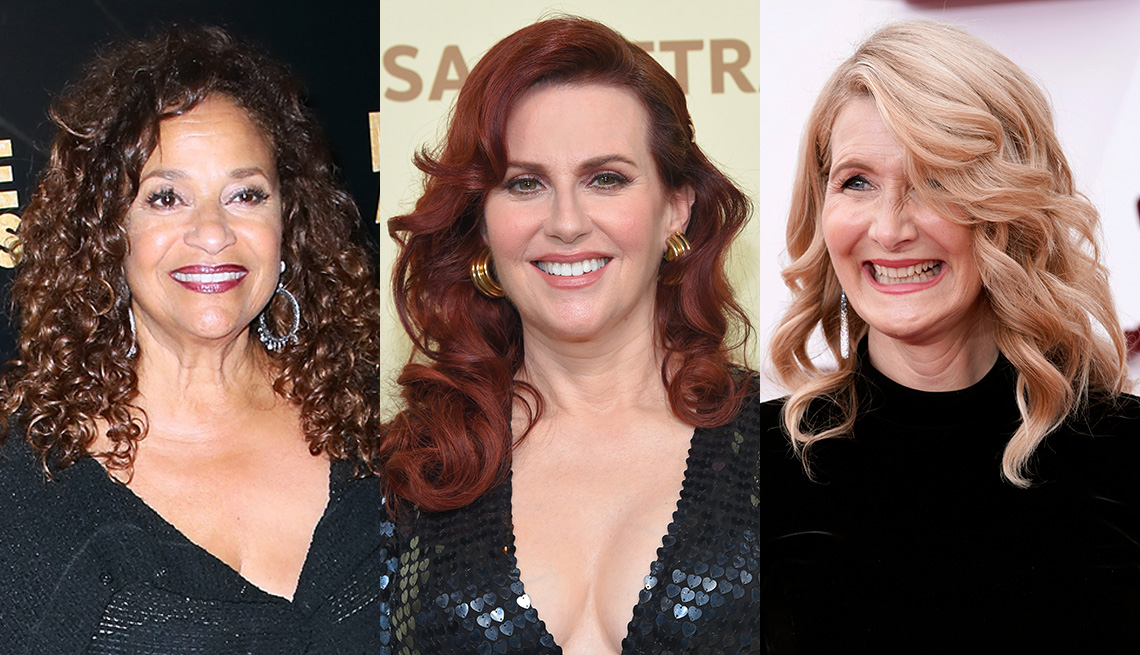 item 6 of Gallery image - Side by side images of Debbie Allen, Megan Mullally and Laura Dern with curly hairstyles