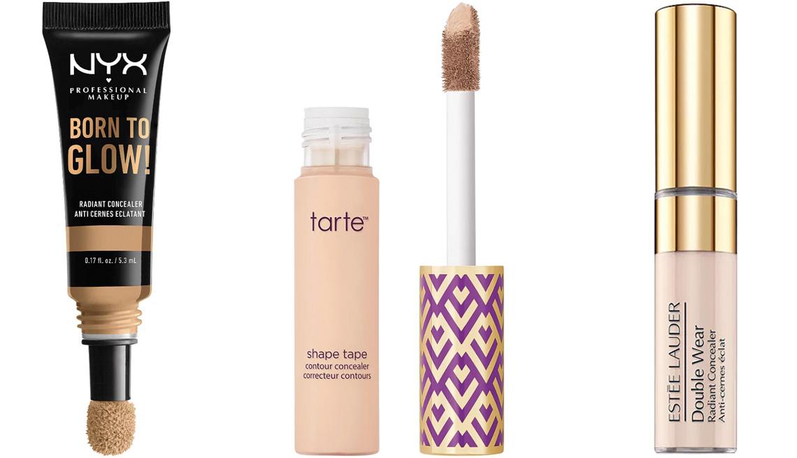 item 5 of Gallery image - NYX Professional Makeup Born to Glow Medium Coverage 12H Radiant Under Eye Concealer; Tarte Shape Tape Concealer; Estee Lauder Double Wear Radiant Concealer