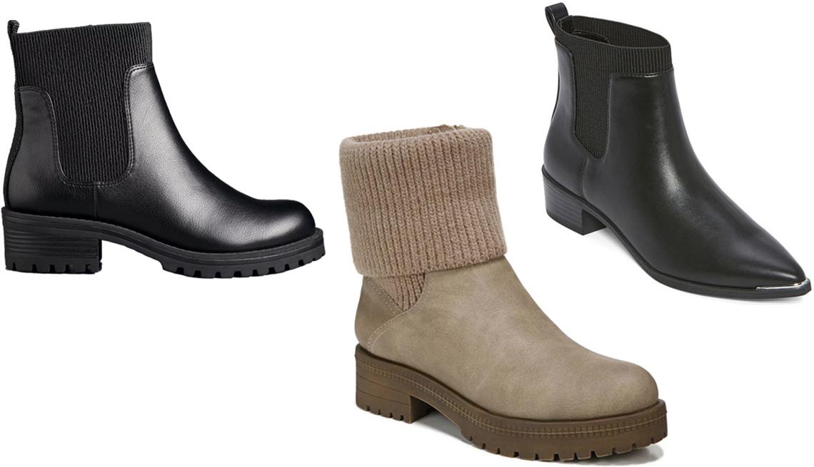 item 10 of Gallery image - Simply Vera Vera Wang Madisonn Women's Chelsea Boots; LifeStride Simone Women's Boots in Taupe; Worthington Women's Brighton Booties Block Heel in Black