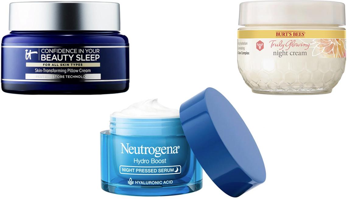 item 7 of Gallery image - IT Cosmetics Confidence in Your Beauty Sleep Night Cream; Burt's Bees Truly Glowing Night Cream; Neutrogena Hydro Boost Night Pressed Serum