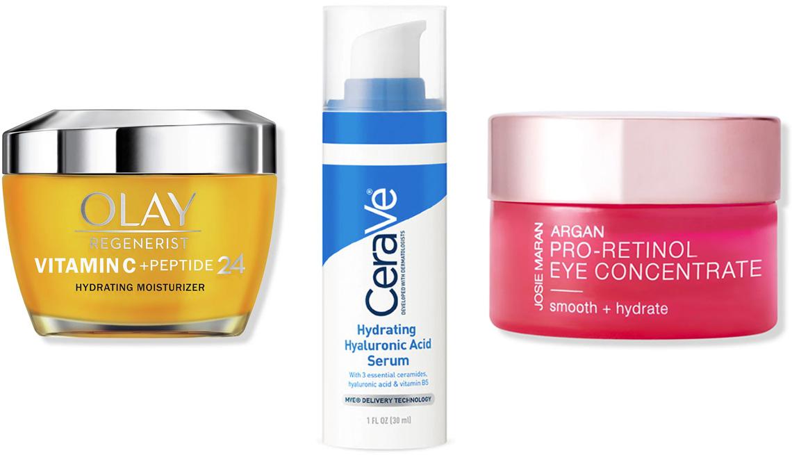 item 4 of Gallery image - Olay Regenerist Vitamin C + Peptide 24 Face Moisturizer; CeraVe Hydrating Hyaluronic Acid Face Serum; Josie Maran Argan Pro-Retinol Eye Concentrate