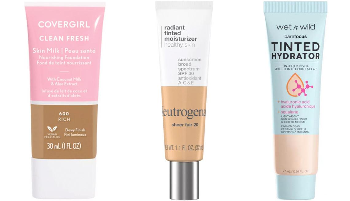 item 1 of Gallery image - CoverGirl Clean Fresh Skin Milk Foundation; Neutrogena Radiant Tinted Moisturizer SPF 30; Wet n Wild Bare Focus Tinted Hydrator