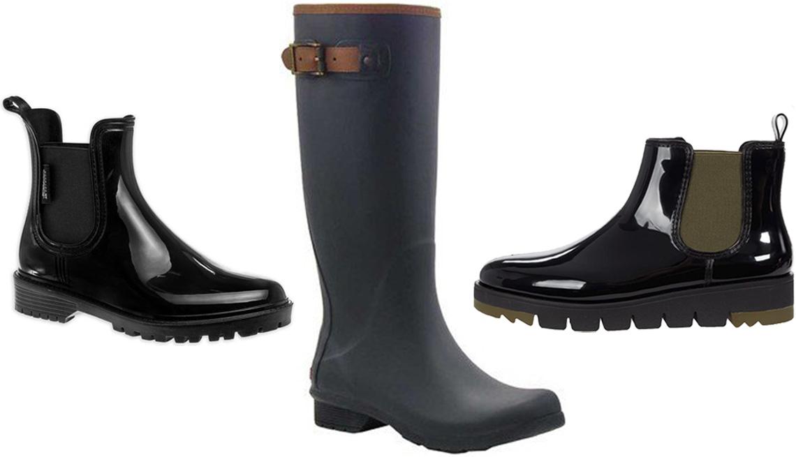 item 12 of Gallery image - Josmo Outdoor Women's Waterproof Chelsea Rain Boot in Black; Chooka Women's City Solid Tall Waterproof Rain Boot in Black; Cougar Firenze Waterproof in Black Gloss
