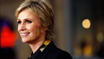 Happy Accidents: My Gleeful Life author Jane Lynch smiles