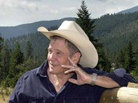 Writer James Lee Burke, bestselling mystery writer on the eve of his 75th birthday discusses aging - portrait of James Lee Burke