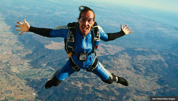 author Susan Jacoby skydiving