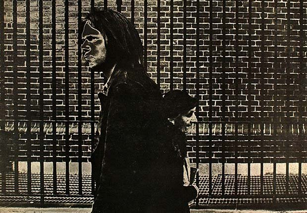 The album cover sleeve of After The Gold Rush by Neil Young, record released in 1971