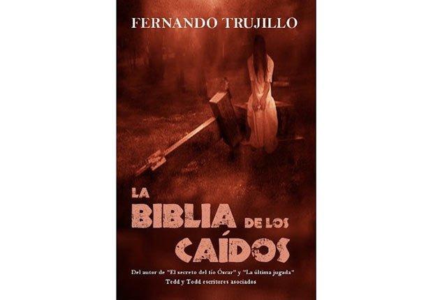 Portada del libro, La Biblia de los Caidos - Género de horror y espanto - Traducciones y publicaciones en español - Halloween