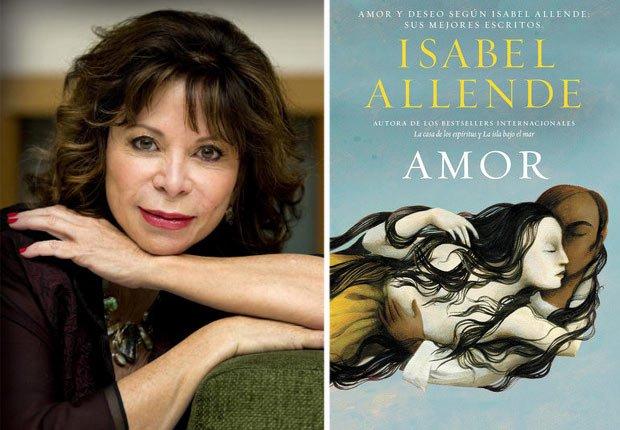 Retrato de Isabel Allende, portada de Amor