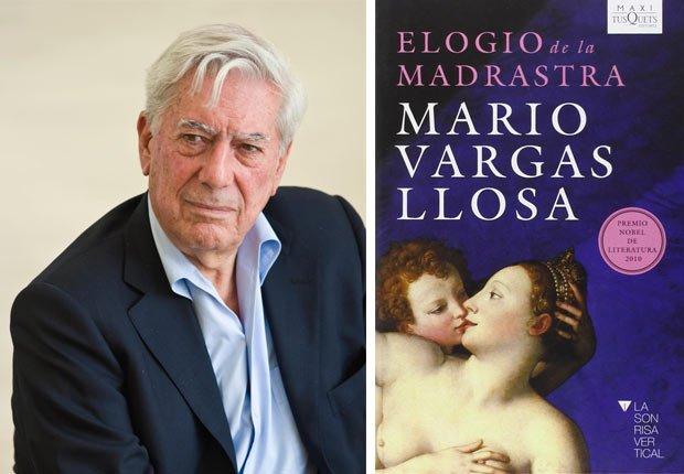 Retrato de Mario Vargas, portada de El elogio de la madrasta