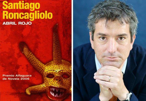 Portada de Abril Rojo, foto de Santiago Roncagliolo. Novelas de crimen y detectives para todos los gustos