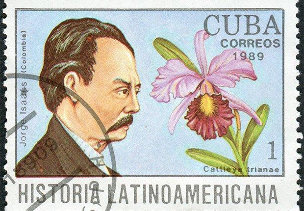 Ilustración del escritor colombiano Jorge Isaacs Ferrer, autor de la novela María