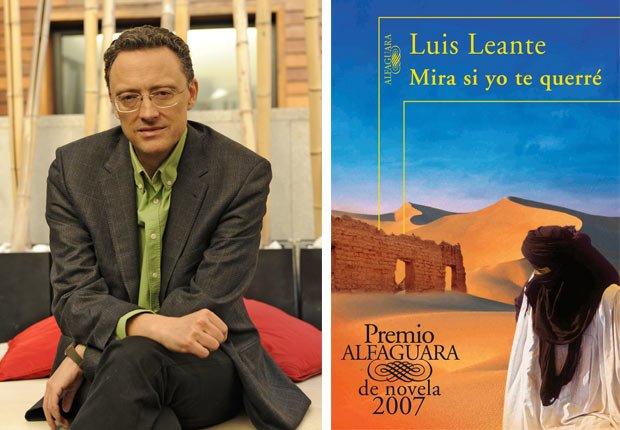 Retrato de Luis Leante, portada de Mira si yo te querré