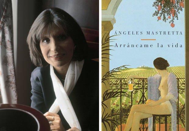 Retrato de la escritora Ángeles Mastretta, portada de Arráncame la vida