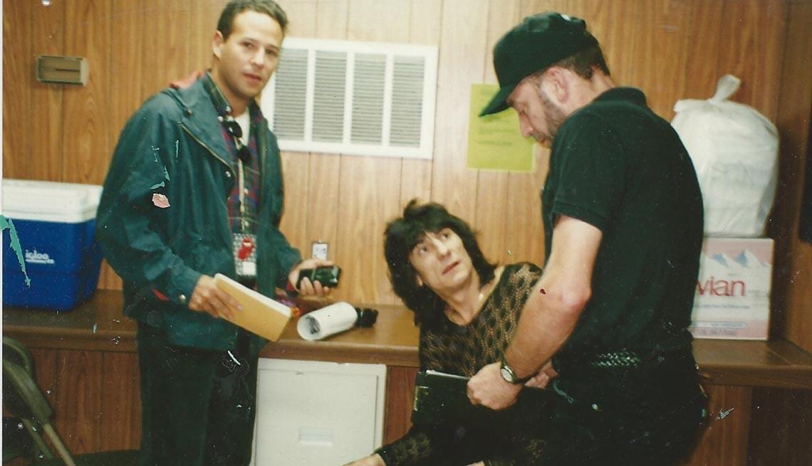 Rich Cohen, left, and Ron Wood
