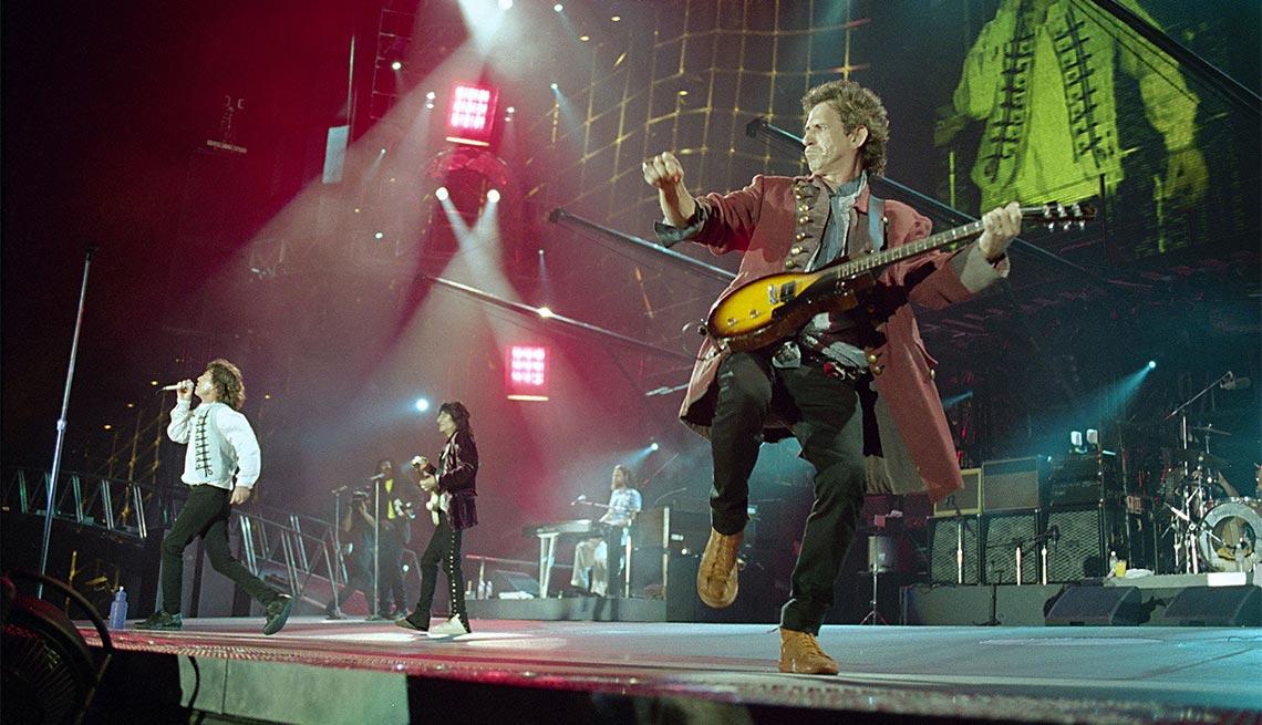 The Rolling Stones perform at RFK Stadium in 1994