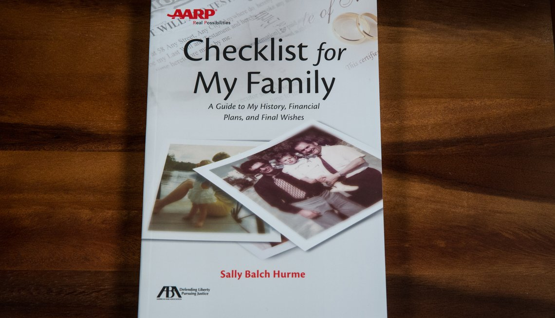 Checklist for My Family, AARP Books