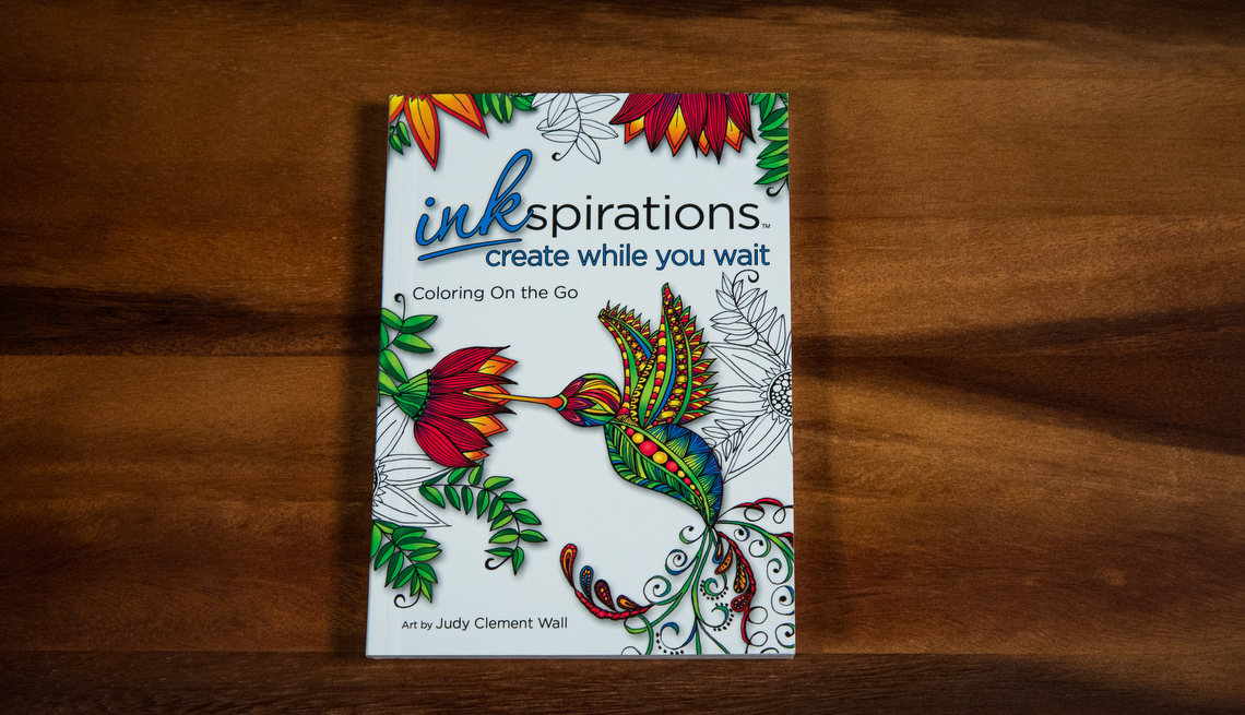 Inkspirations Create While You Wait Coloring Book