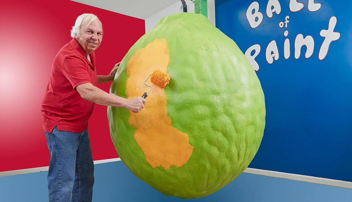 Guinness book michael carmichael largest ball of paint