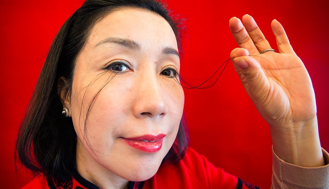 Guinness book you jianxia Longest eyelashes