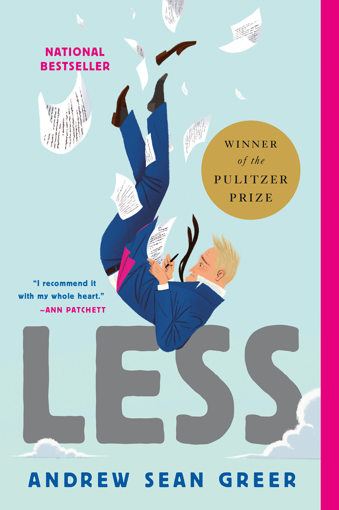 book cover, text reads: Less, Andrew Sean Greer
