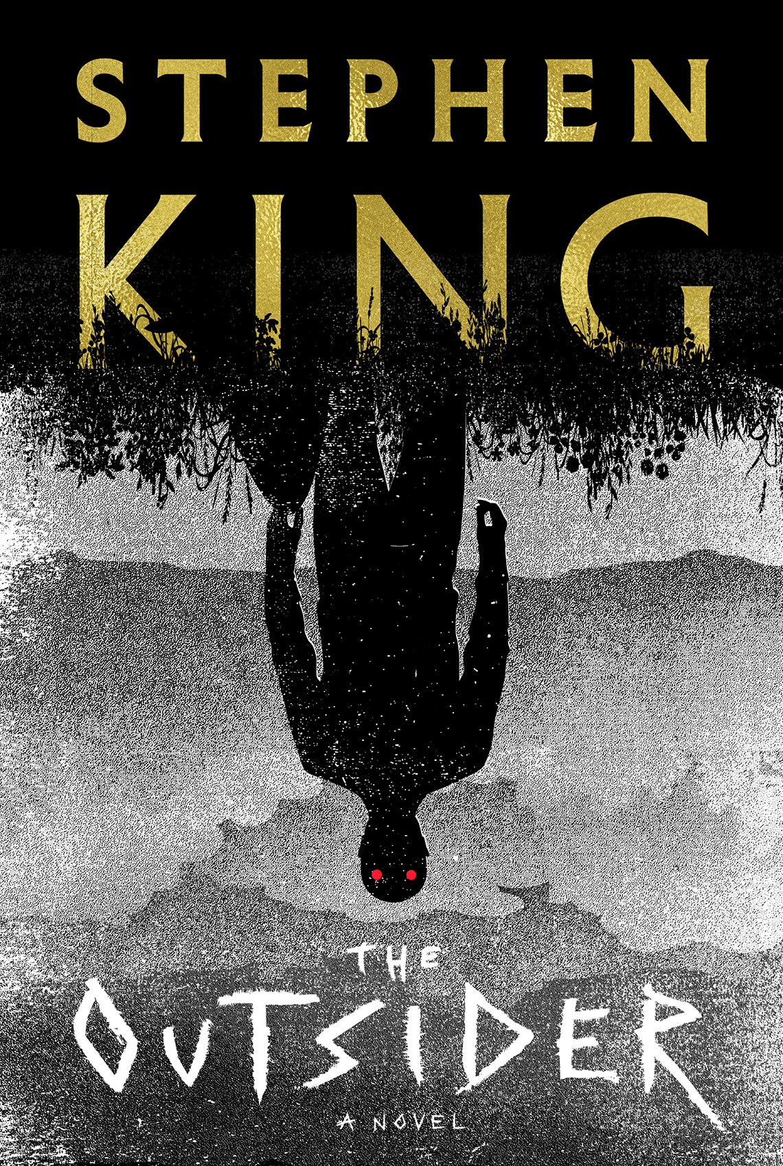 book cover, text reads: Stephen King, The Outsider, A Novel