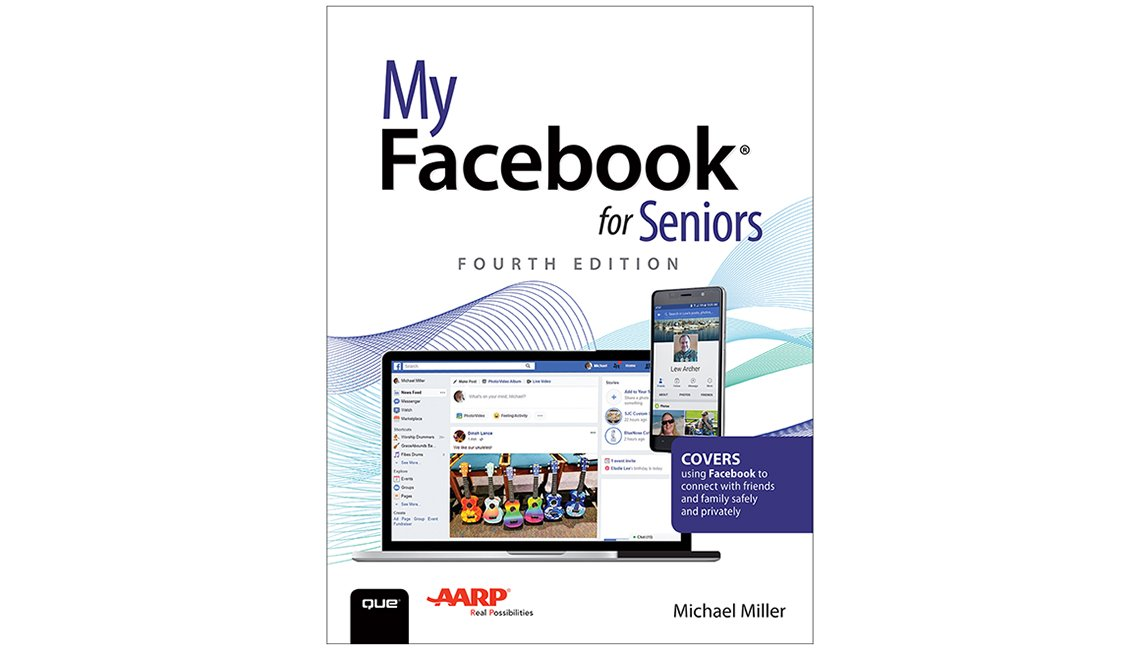 Book cover reads My Facebook for Seniors Fourth Edition