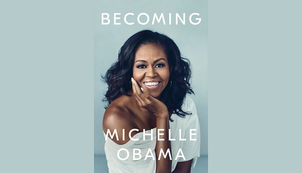 Book cover reads Becoming Michelle Obama