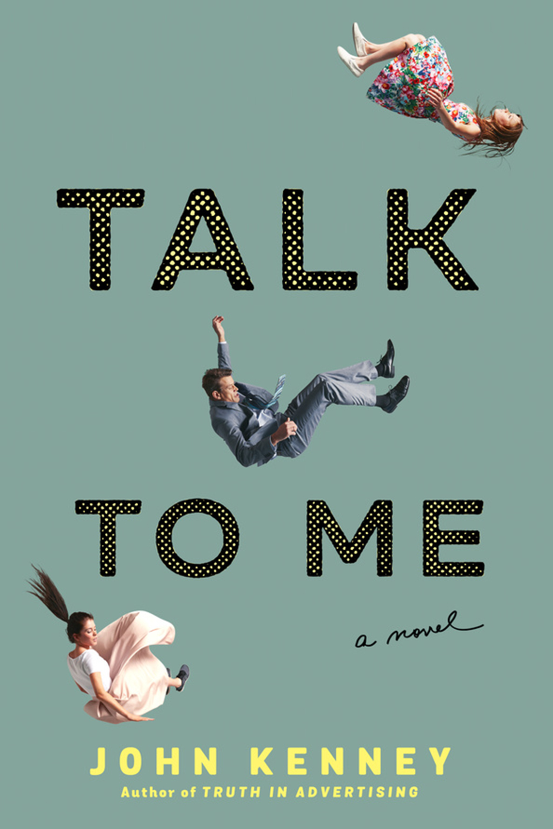 Book cover reads: Talk to Me, John Kenney