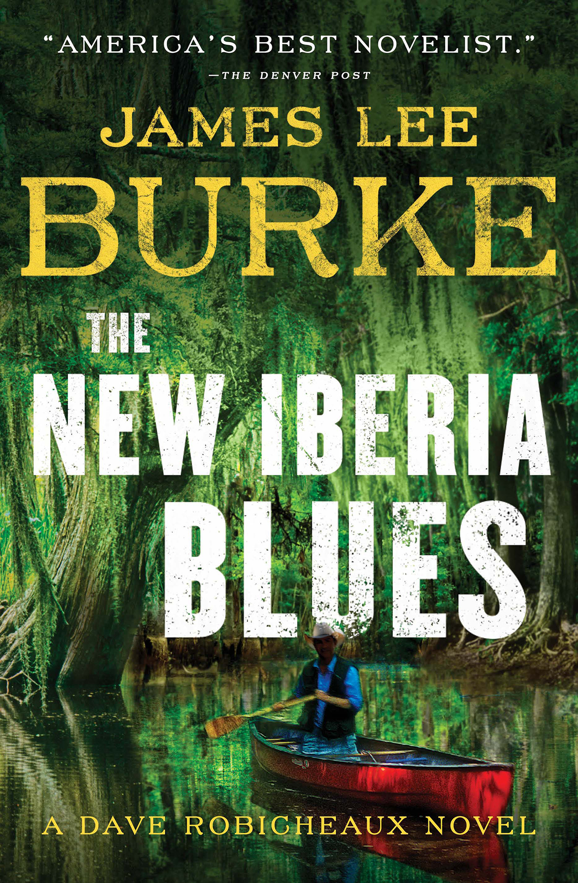 Book cover reads: James Lee Burke, The New Iberia Blues