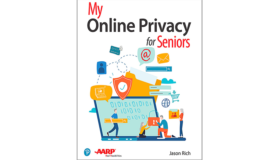 Book cover reads My Online Privacy for Seniors