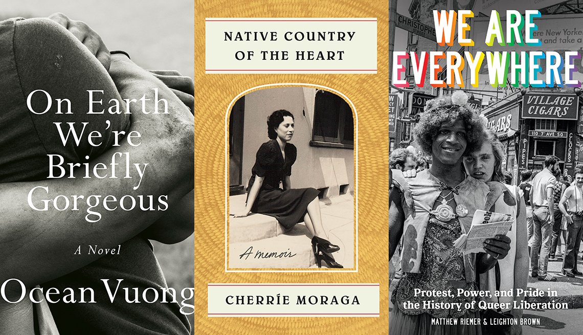 On Earth We're Briefly Gorgeous, Native Country of the Heart and We Are Everywhere book covers