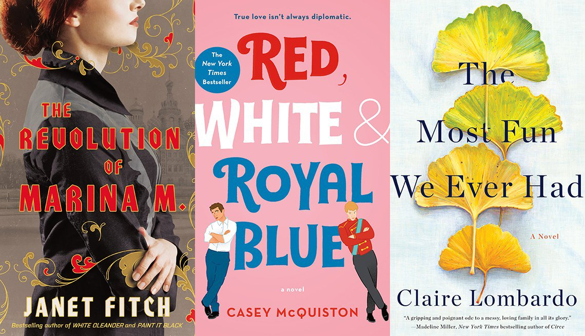 The Revolution of Marina M., Red, White and Royal Blue and The Most Fun We Ever Had book covers
