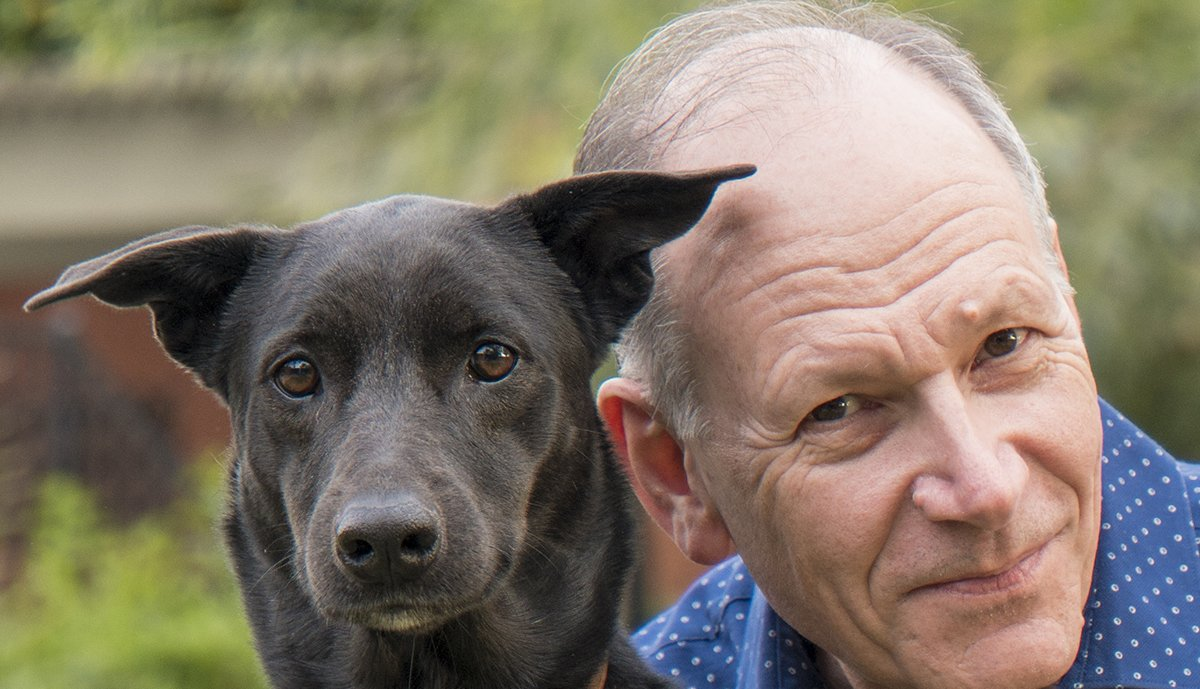 Clive Wynne and his dog, Xephos