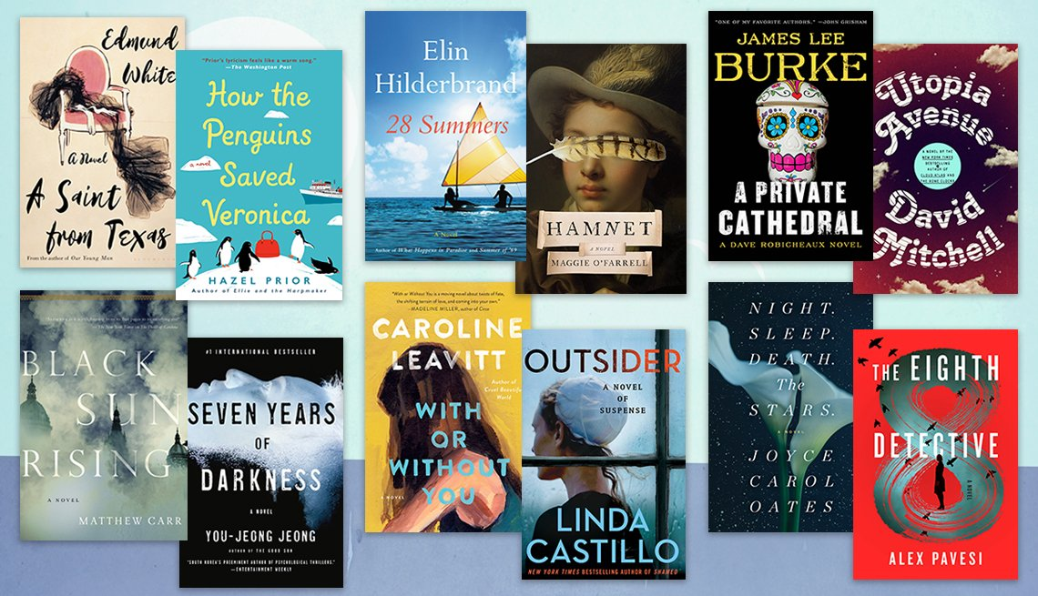 a collage of a dozen book covers mentioned in the article on new summer reads