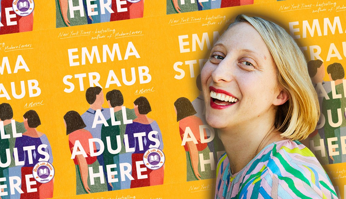 author emma straub and her new book titled all adults here