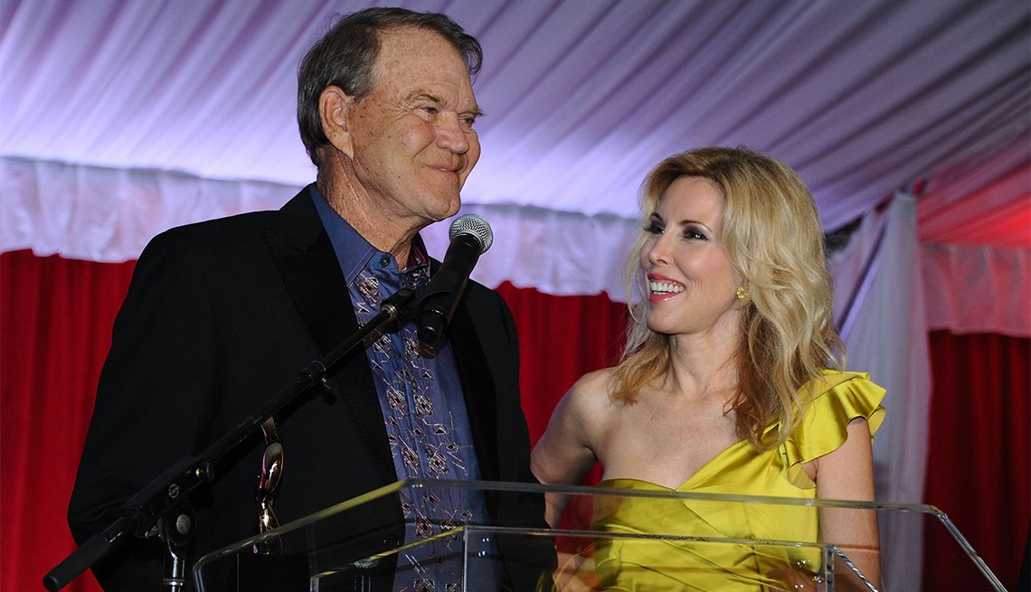 Glen Campbell and Kim Campbell attend Jane Seymour's 2nd annual Open Hearts Foundation Celebration in 2012