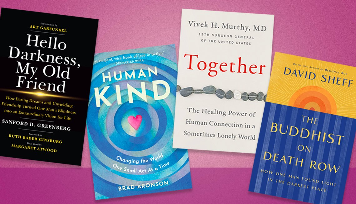 Hello Darkness, My Old Friend, Human Kind, Together, The Buddhist on Death Row book covers